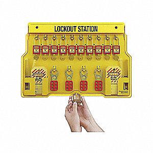 LOCKOUT STATION W/10 PLASTIC LOCK