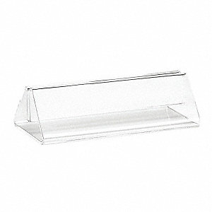 Card Holder, Triangle, Clear Acrylic, 12 PK