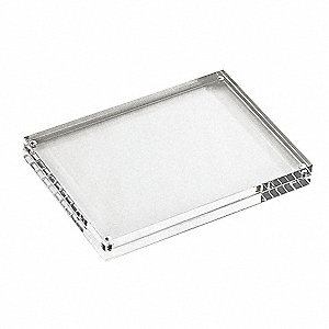 Card Holder, Rectangle, Clear Acrylic, 1 EA