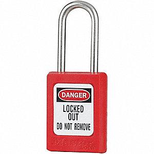 LOCK LO 1-1/2IN SS SHCKL KR RED KD