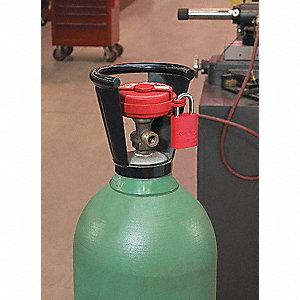 LOCKOUT PRESSURIZED GAS VALVE
