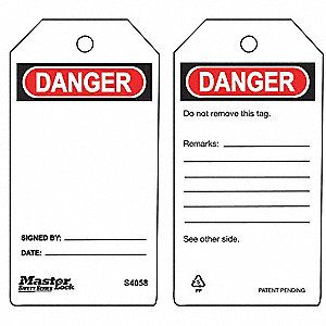 TAG SAFETY DANGER 6/PK
