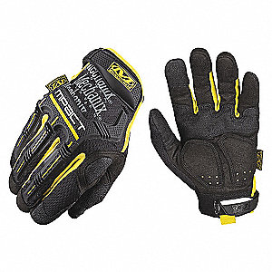 GLOVES M-PACT BLK/YLW SZ L/10