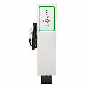 "13.00"" x 6.70"" x 56.20"" 30 Amp Electric Vehicle Charging Station"
