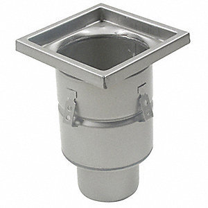 "Square 304 Stainless Steel Floor Drain With 12"" Square Top"