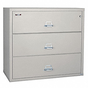 Lateral File, 3 Drawer, 44-1/2 In. W