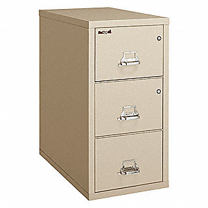 Vertical File,w/ Safe,3 Drawer,Legal