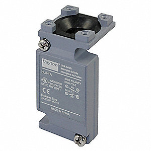 1NO/1NC Plug In Limit Switch Body, AC Contact Rating: 10A @ 600VAC