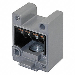 "Limit Switch Receptacle, Zinc Die Cast, 1NO/1NC Contact Form, 1/2""-14 NPT Conduit Size"