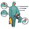 COVERALLS DISPOSABLE FR GREEN