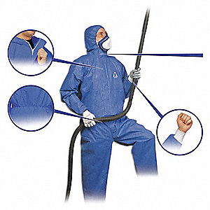COVERALLS DISPOSABLE PRO BLUE
