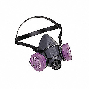 RESPIRATOR LOW MAINT HALF MASK LGE