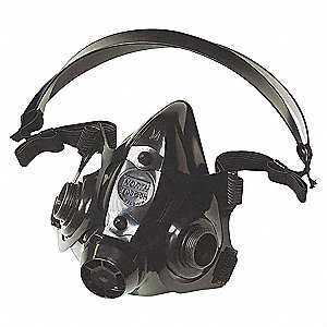 RESPIRATOR AIR PURIFY HALF MASK MED