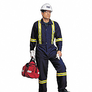 COVERALLS NORTH-FLASH REFLEC NAVY