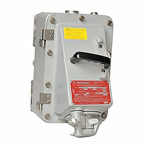 Receptacle with Disconnect Switch, 600VAC Voltage, 30 Amps, Number of Poles: 3, Number of Wires: 2