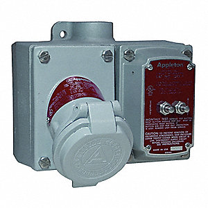 GFCI Receptacle, 120 VAC Voltage, 20 Amps, Number of Poles: 3, Number of Wires: 2