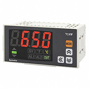 RTD, J or K Thermocouple Digital Panel Mount Thermometer, -148° to 2192° Temp. Range (F)