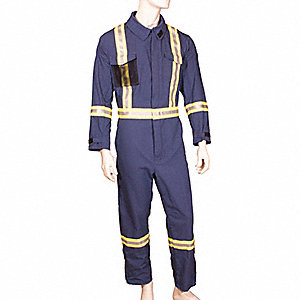COVERALL 10CAL GLENGUARD NAVY T2XL