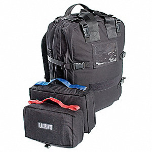 Medical Pack,Black,20 x 13 x 6 In