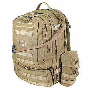Hydration Pack,Tan,Nylon,100 oz