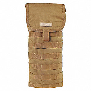 "Coyote Tan Hydration System Carrier, 100 oz./3L Capacity, Depth .8"", Length 7.7"", Width 16"""