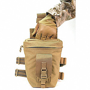 Utility/GP Pouch, Buckle, Hook-and-Loop, Zipper, 1000D Nylon, Coyote Tan
