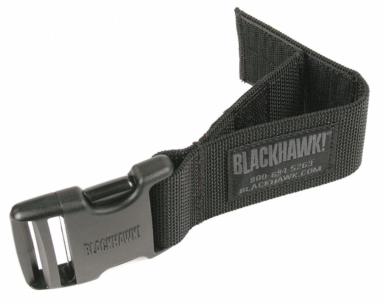 Drop Leg Pouch, Quick-Release Buckle, 1000D Nylon, Black