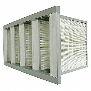 12x24x12 Fiberglass V-Bank Air Filter with MERV16 and 95% DOP Filter Efficiency