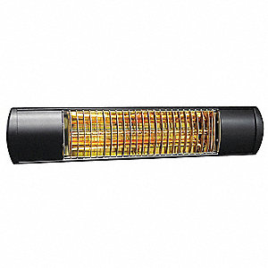 Electric Infrared Heater, Indoor/Outdoor, Wall, Voltage 120, Watts 1500