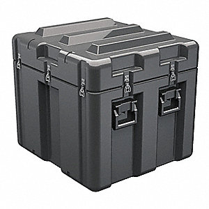 "Protective Case, 29"" Overall Length, 27"" Overall Width, 26-1/2"" Overall Depth, Polyethylene, Black"