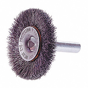 BRUSH WHEEL WRE CRMP 3IN 1/4IN SHNK