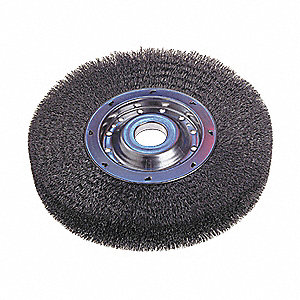 BRUSH WHEEL WIRE WIDE FACE 12IN