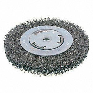 BRUSH WIRE WHEEL CRIMPED MED 4IN