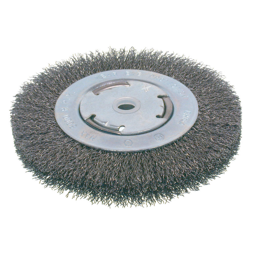 OSBORN BRUSH WIRE WHEEL CRIMPED MED 6IN - Wire Wheel Brushes ...