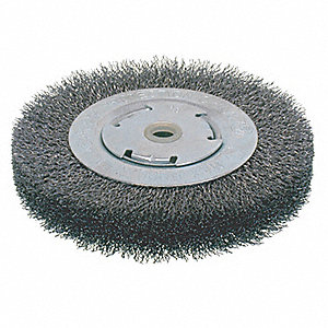 BRUSH WIRE WHEEL CRIMPED WIDE 6IN