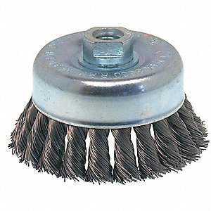 BRUSH WIRE CUP KNOT 4 5/8-11 .020