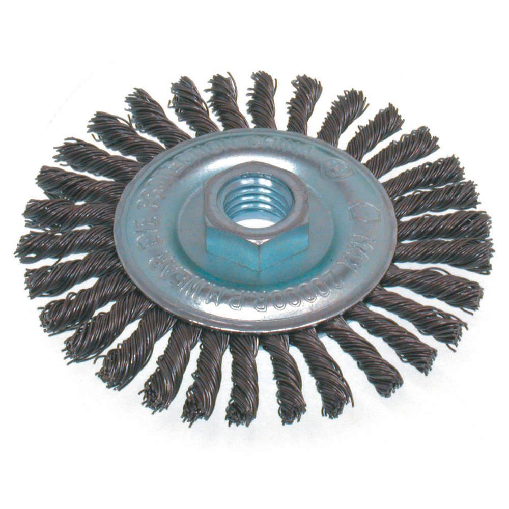 OSBORN BRUSH STRINGER KNOT 6IN 5/8-11NC - Wire Wheel Brushes ...