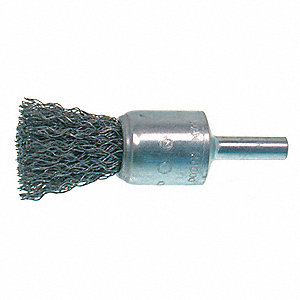 BRUSH END CRIMPED 3/4X1/4 SS .010