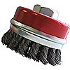 CUP BRUSH BRIDLED CS 3IN