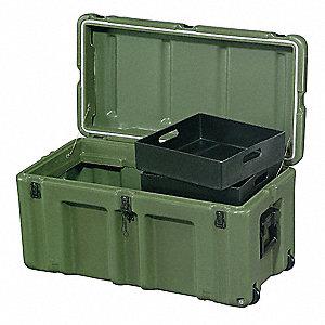 Charming Foot Locker,33Lx17Wx17D,OD Green
