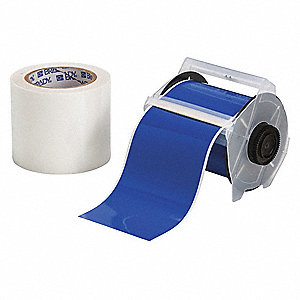 "Floor Marking Tape, Solid, Continuous Roll, 4"" Width, 1 EA"