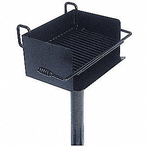 Cantilever Powder Coated Steel Pedestal Grill