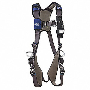 ExoFit NEX ™ Full Body Harness with 420 lb. Weight Capacity, Blue, L