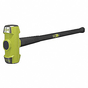 "Double Face Sledge Hammer, 20 lb. Head Weight, 3-1/4"" Head Width, 38"" Overall Length"