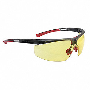 Adaptec  Anti-Fog, Anti-Static, Scratch-Resistant Safety Glasses, Amber Lens Color