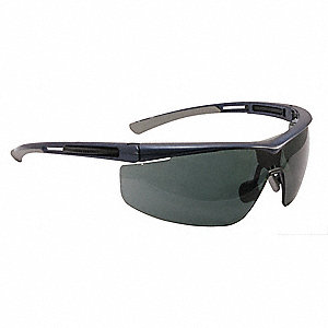 Adaptec  Anti-Fog, Anti-Static, Scratch-Resistant Safety Glasses, Smoke Lens Color
