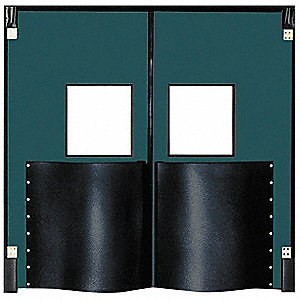 Polyethylene Swinging Door, Forest Green; Number of Doors: 2, 8 ft.W x 10 ft.H