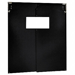 Flexible Swinging Door,8 x 7 ft,Black,PR