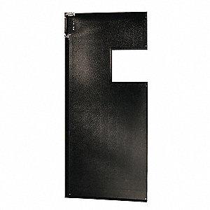 PVC Swinging Door, Black; Number of Doors: 1, 3 ft.W x 8 ft.H