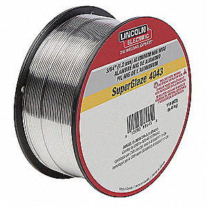 "1 lb. Aluminum Spool MIG Welding Wire with 0.045"" Diameter and ER4043 AWS Classification"